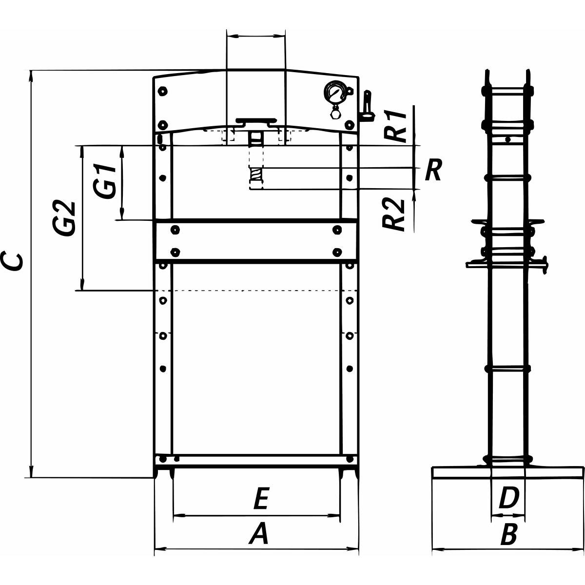 Hydraulic Press 30t High Mgk30a Ikh Ry Piping Diagram Continued