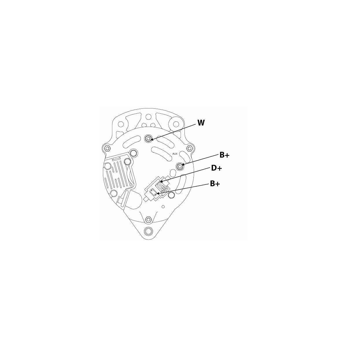 Alternator 65a Universal St0210 Ikh 885 Case Tractor Starter Wiring Diagram Laturi Yleismalli