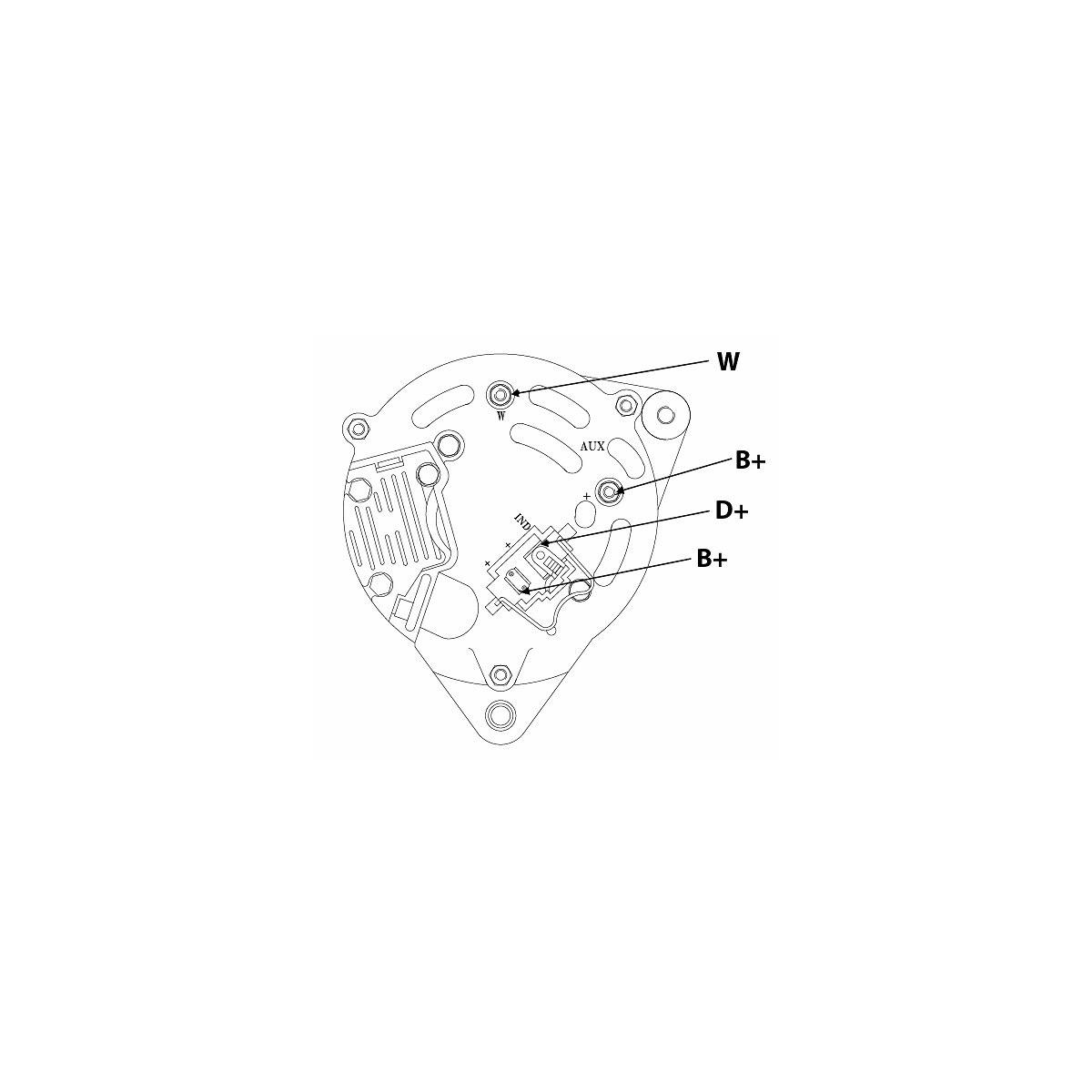 Alternator 70a Valmet Ford Shaft 17mm St0215 Ikh Welder Diagram
